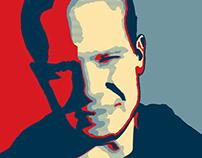 Selfie illustration - 'obama'