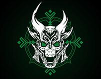 Green Armored Skull