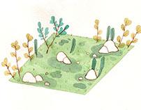 Tiny square garden