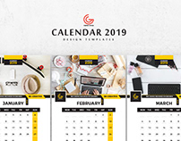 Free 13 Pages 2019 Calendar Design Templates
