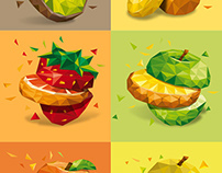 Ilustraciones de frutas - Trident Brasil