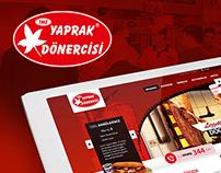 Yaprak Dönercisi Homepage Web Design