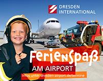 ferien-Webbanner für den Flughafen Dresden