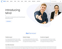 MIND Bootstrap 4 HTML Template