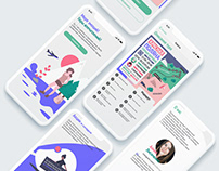 UX\UI web concept fortravel agency