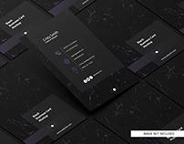 Black business card free mockup_1