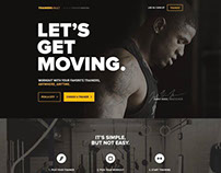 Fitness/Gym web layout