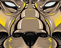 Jungle ka Raja (King of the Jungle) Vector Illustration