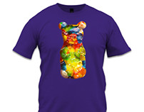 Rainbow Gummy Bear Illustration