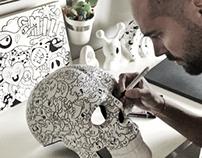 Doodleart skull by carnivorum