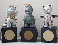 Negora, Gogamejira, and Tanuki no Pokopon