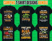 Camping T Shirt Design Bundle