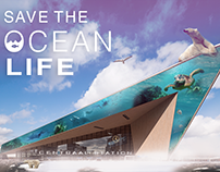 Save the ocean life | Poster