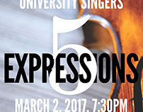 "Concert Poster: ""5 Expressions"""