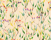 Watercolor Spring Patterns