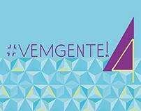 projeto gráfico   evento   #vemgente! 4