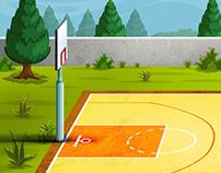 Ultimate Basketball Shootout-Game UI/UX