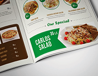 Carlos Cafe's Menu Proposals