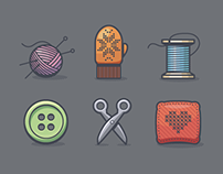 Crafts icon set