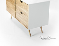 White and Oak little sideboard