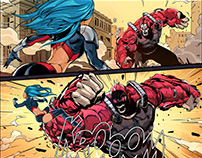 Comic art to Motion Artist Promo