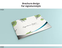 Brochure design For signaturestyle