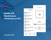 Hand-drawn Wireframe UI Kit for Adobe XD