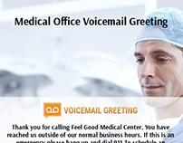 Voicemail greeting samples on behance medical office voicemail greeting sample m4hsunfo
