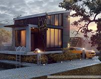 Modern Villa and Nature