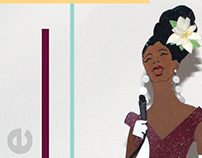 3D Design - Jazz Diva Billie Holiday