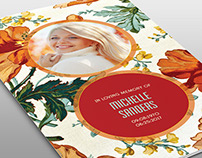 Floral Beauty Funeral Program Template