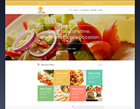 Concept Design - Order Food / Book Table Web Template