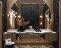 Guest bathroom design in Kuwait City