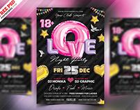 Premium Romantic Music Party Flyer PSD