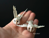 Miniature Paper Owls