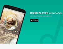 Music player App Design for Android Smartphone.