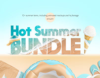 Hot Summer Mockups Bundle