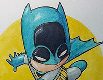 Cute Batman Watercolors