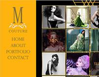 M Couture Website Mockups