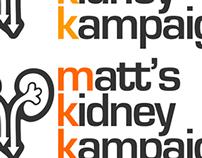 Matt's Kidney Kampaign Branding & Website