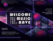 MUSIC RAVE / Flayer / Design