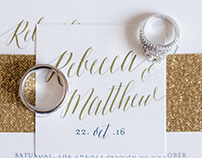 Rebecca & Matthew Wedding Invitation Suite & Day Of