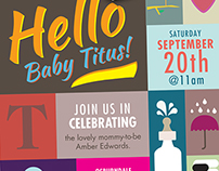 Baby Titus's Shower Invites & Stationary