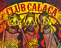 Club Calaca design for a drum