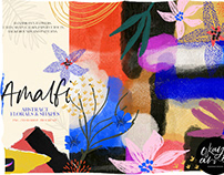 Amalfi Abstract Floral & Shapes By: OkayAnnie Designs