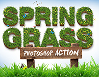 Spring Grass -Photoshop Action