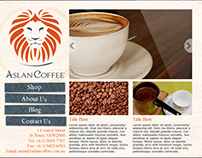 Aslan Coffee Interface Design