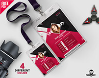 Photo Identity Card Template PSD Bundle