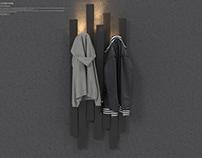 SKI CLOTHES STAND