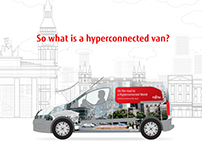 Fujitsu - Hyperconnected van motion graphic